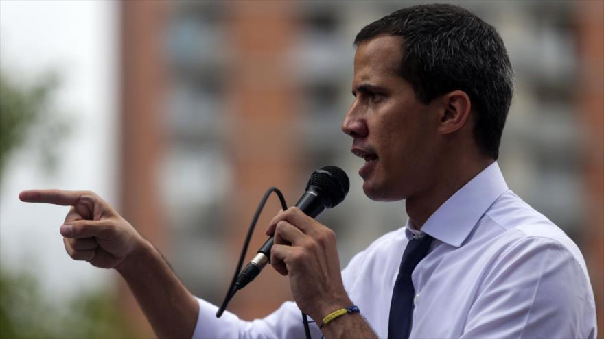 El opositor venezolano Juan Guaidó, en una manifestación de sus seguidores en Caracas, 5 de julio de 2019 (Foto:AFP)