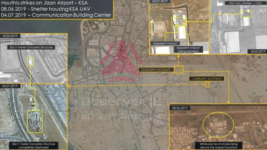 Fotos confirman daños en aeropuerto saudí por ataques de Yemen | HISPANTV