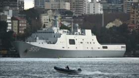 Australia dice que un buque chino espía sus maniobras con EEUU