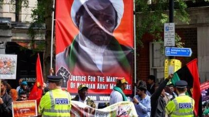 Protestan en Londres por riesgo que corre la vida de Al-Zakzaky