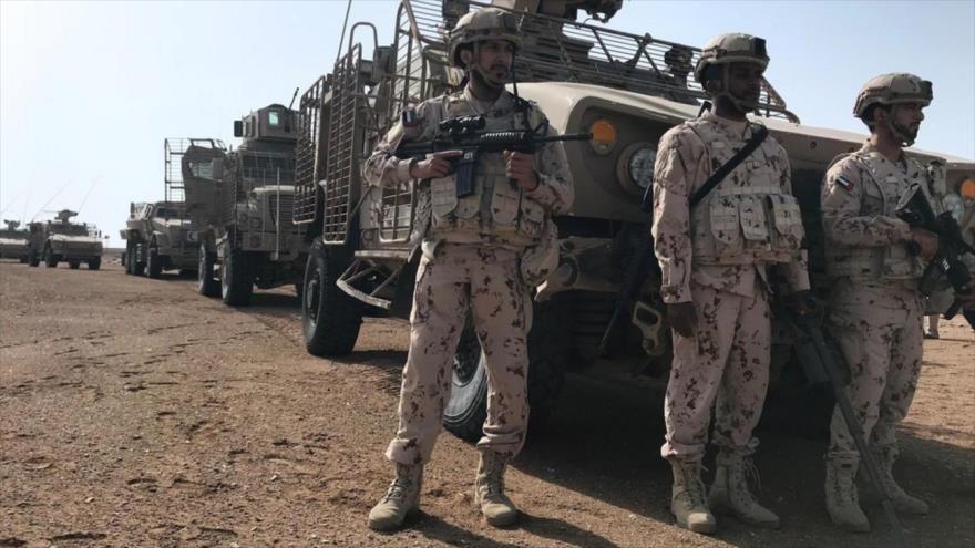 Miembros de las Fuerzas Armadas de los Emiratos Árabes Unidos (EAU) desplegados en la región de Al-Moja, Yemen, 6 de marzo de 2018. (Foto: Reuters)