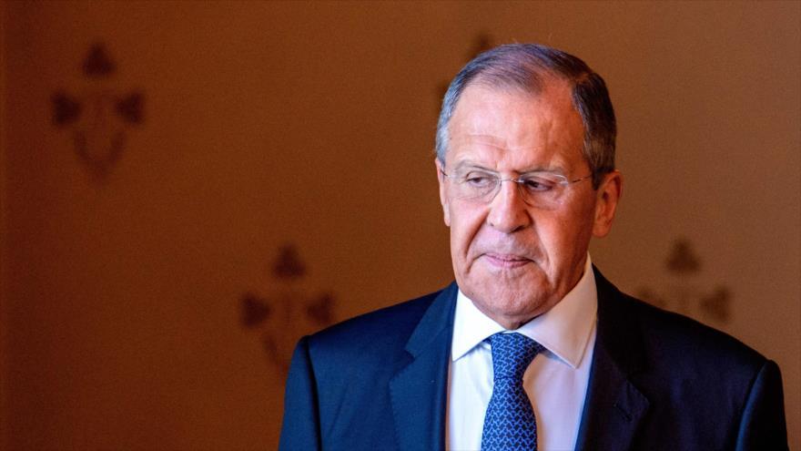 El canciller ruso, Serguéi Lavrov, durante un acto en Moscú, 24 de junio de 2019. (Foto: AFP)