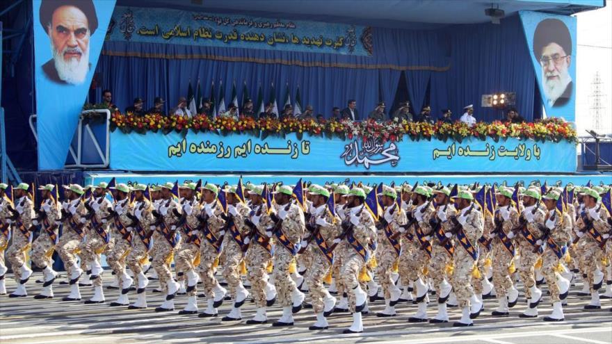 Un desfile de las fuerzas del Cuerpo de Guardianes de la Revolución Islámica (CGRI) de Irán en Teherán, la capital.