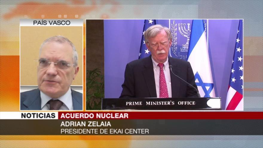 Zelaia: Hostilidad de EEUU hacia Irán no cambiará con o sin Bolton
