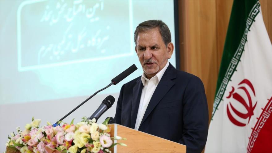 El vicepresidente primero de Irán, Eshaq Yahanguiri, en un acto en la ciudad iraní de Yahrom (sur), 9 de julio de 2019.