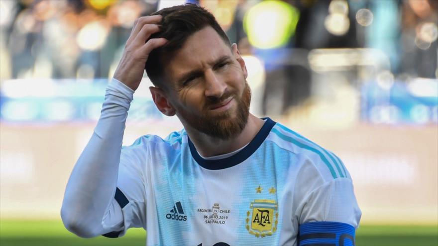 El astro argentino Lionel Messi durante un partido en Sao Paulo, Brasil, 6 de julio de 2019. (Foto: AFP)