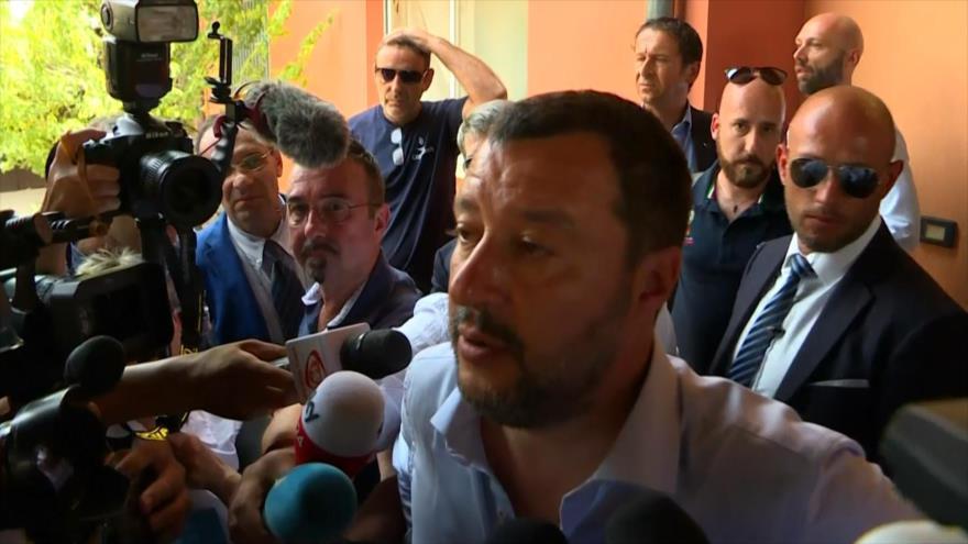 Matteo Salvini cierra un centro de migrantes en Mineo, Sicilia