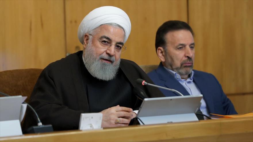 El presidente de Irán, Hasan Rohani, en una reunión de gabinete, Teherán, 10 de julio de 2019. (Foto: President.ir)