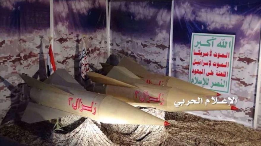 Misiles balísticos Zilzal-3 del Ejército yemení.