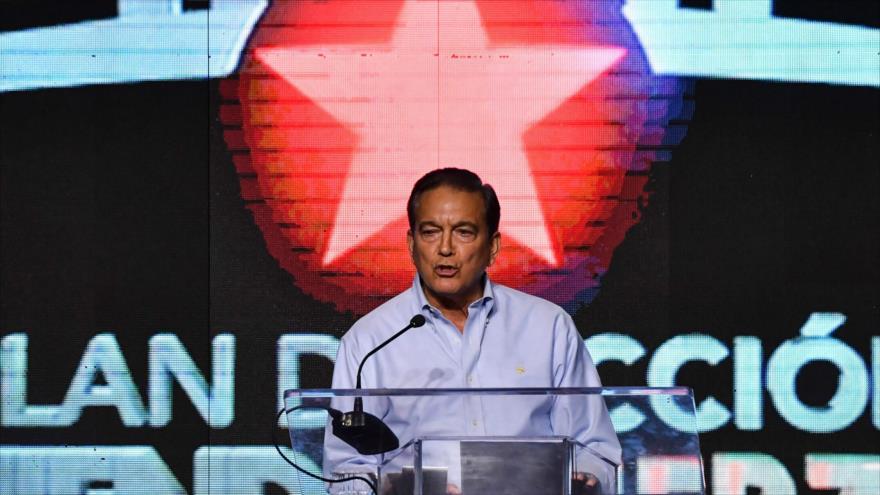 El presidente recién electo de Panamá, Laurentino Cortizo, la Ciudad de Panamá (capital), 1 de abril de 2019. (Foto: AFP)