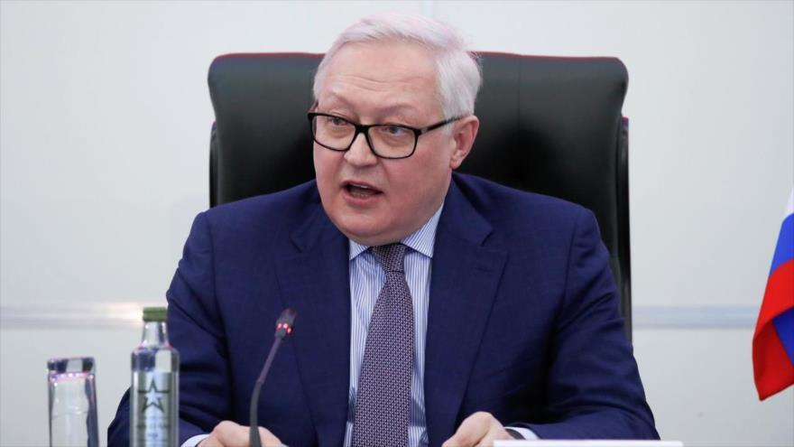 El vicecanciller ruso, Serguéi Riabkov, habla en una reunión en Moscú (capital), 23 de enero de 2019. (Foto: Reuters)