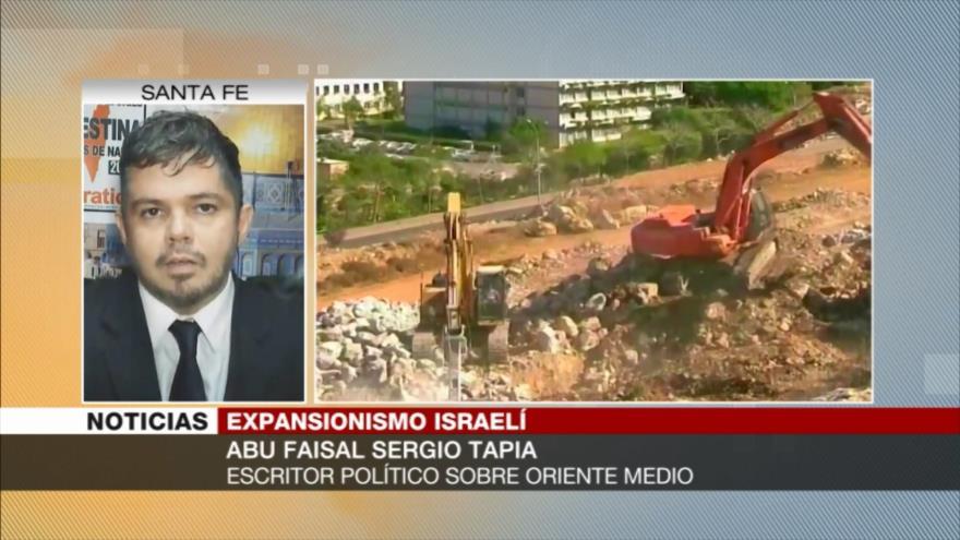 Sergio Tapia: Netanyahu busca aumentar colonización de Palestina