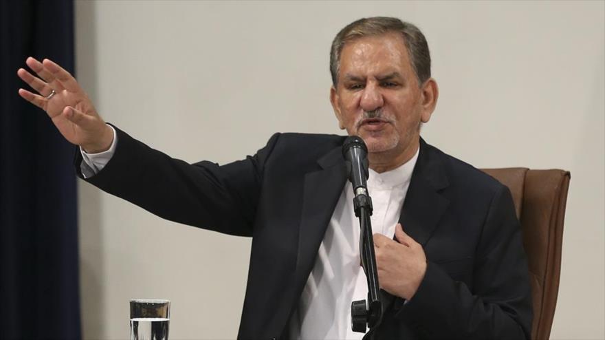 El vicepresidente primero de Irán, Eshaq Yahangir, en un evento en Teherán, capital persa, 11 de julio de 2019. (Foto: FARS)