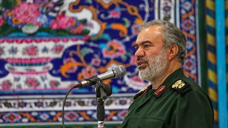 El comandante en jefe adjunto del Cuerpo de Guardianes de Irán (CGRI), Ali Fadavi, durante una ceremonia en Isfahan, 11 de julio de 2019. (Foto: Tasnim)