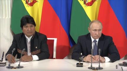 Morales agradece a Putin construcción de centro nuclear en Bolivia
