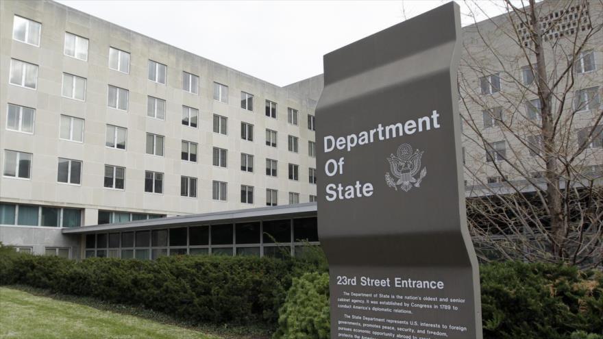 Fachada de la sede del Departamento de Estado de Estados Unidos, Washington DC, EE.UU.