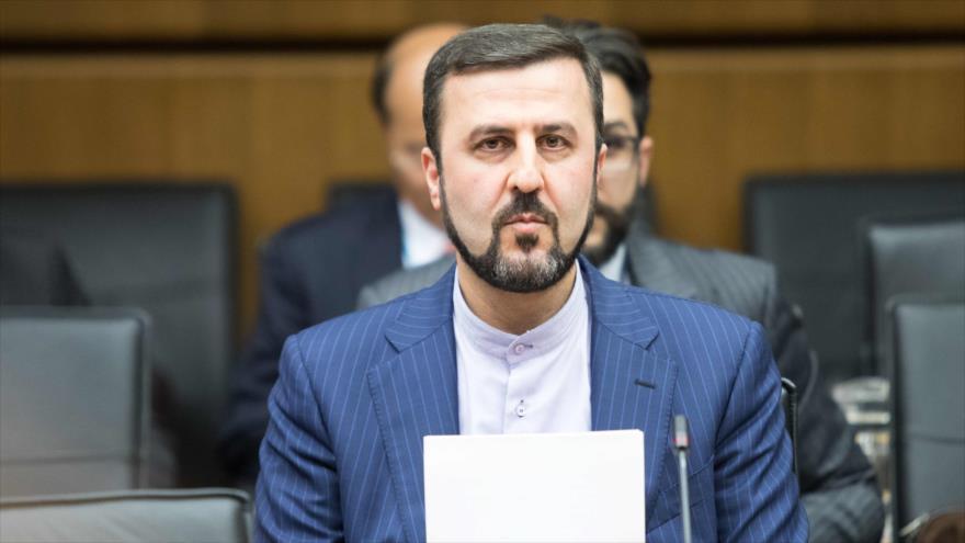 El representante permanente de Irán ante las organizaciones internacionales asentadas en Viena, Kazem Qaribabadi, 10 de julio de 2019. (Foto: AFP)