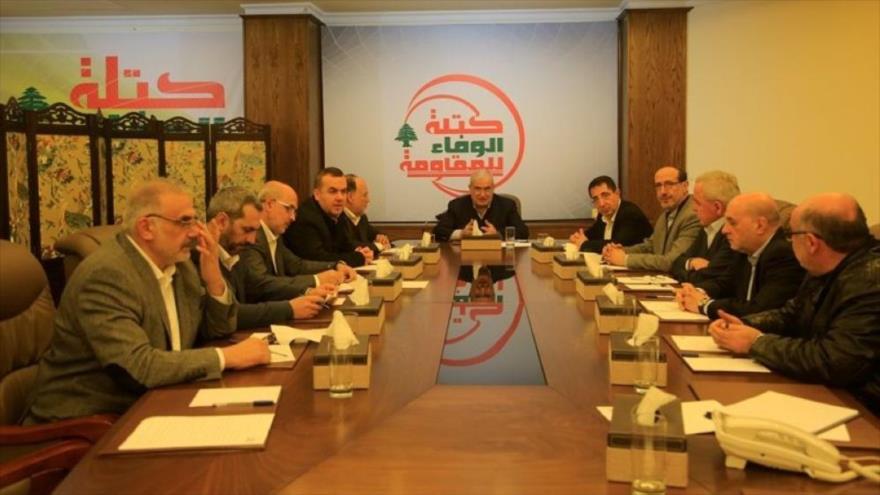 Una reunión de la fracción Lealtad a la Resistencia, bloque parlamentario de Hezbolá, 11 de julio de 2019.