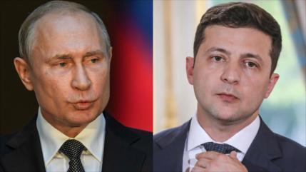 Putin y Zelenski abordan posible solución al conflicto bilateral