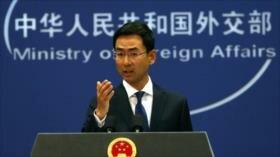 China rechaza sanciones de EEUU y defiende sus lazos con Irán