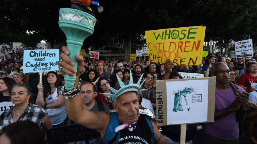 Manifestaciones en todo EEUU contra la política migratoria de Trump