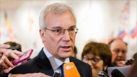 Rusia pide la retirada de las tropas foráneas ilegales de Siria