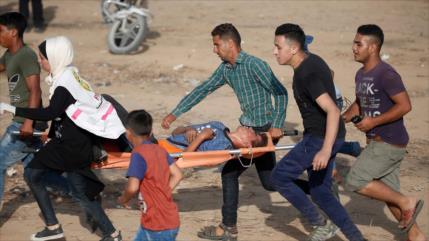 Represión israelí deja otros 74 manifestantes palestinos heridos