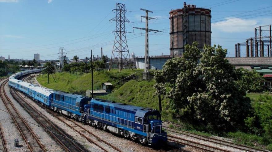 Los primeros vagones de pasajeros del primer tren de fabricación china en Cuba, La Habana, Cuba, 13 de julio de 2019. (Foto: Reuters)