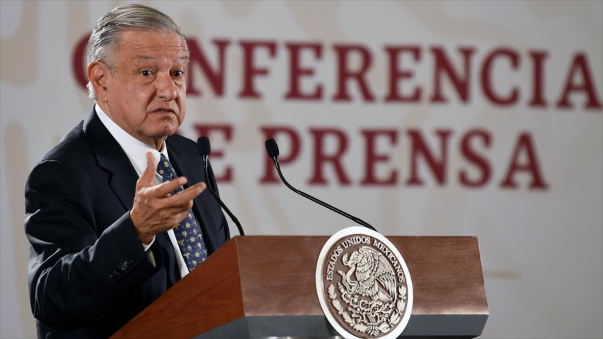 El presidente mexicano, Andrés Manuel López Obrador, en una conferencia de prensa, 9 de julio de 2019. (Foto: AFP)