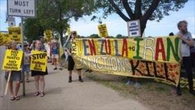 Estadounidenses condenan sanciones a Irán, Venezuela y Cuba