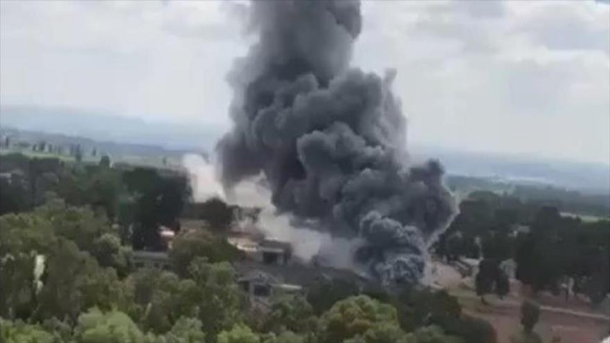 Vídeo: incendio consume una fábrica de armas israelí en Tel Aviv