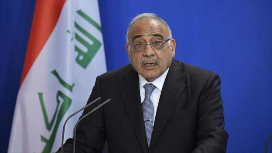 El premier de Irak, Adel Abdul-Mahdi, ofrece un discurso en Berlín (Alemania), 30 de abril de 2019. (Foto: AFP)