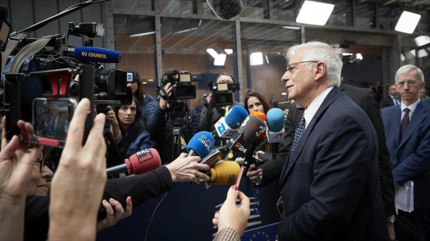 El canciller español en funciones, Josep Borrell, durante una reunión en Bruselas (capital belga), 15 de julio de 2019. (Foto: AFP)