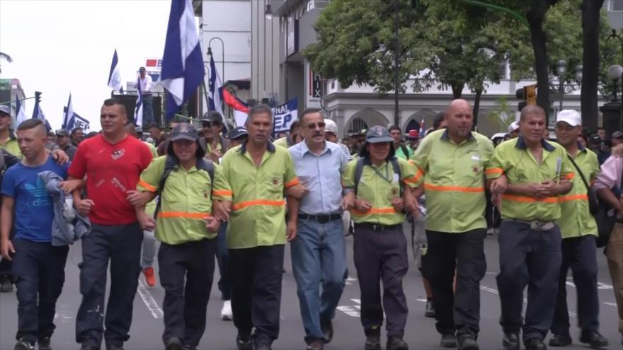 Estudiantes y sindicatos se unen en manifestación en Costa Rica