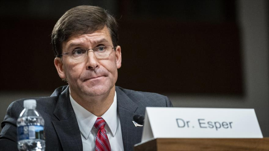 El secretario de Defensa interino de EE.UU., Mark Esper, en su audiencia de nominación, Washington, 16 de julio de 2019. (Foto: AFP)