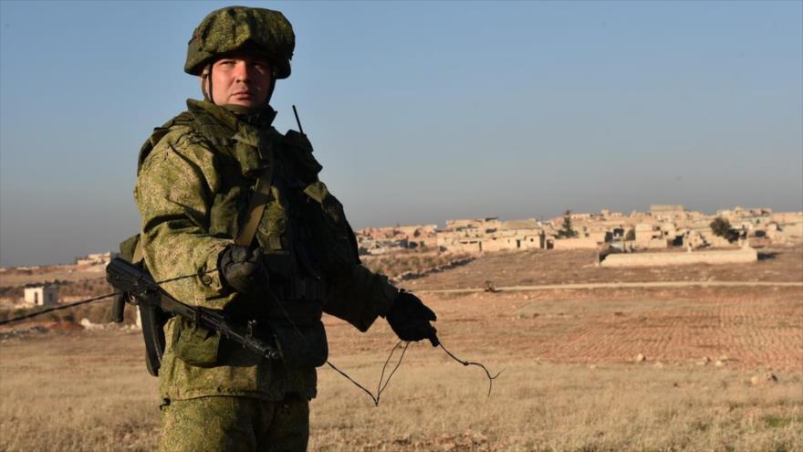 Un soldado ruso en Siria.