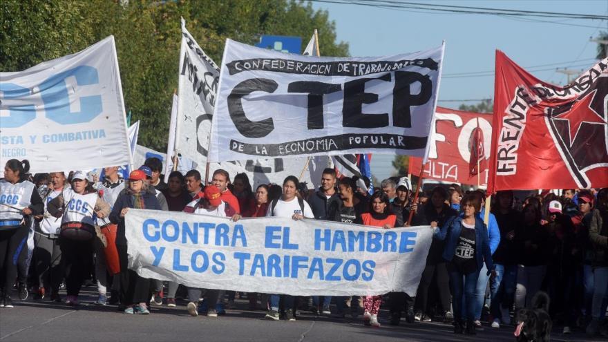 Protestas en Argentina contra las políticas económicas de Macri