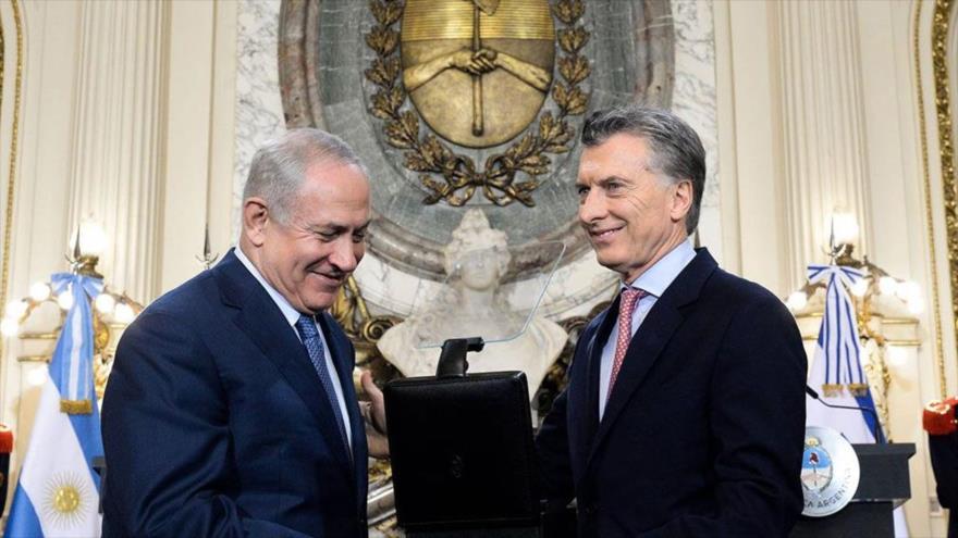El presidente de Argentina, Mauricio Macri, y el premier israelí, Benjamín Netanyahu, en Buenos Aires, capital argentina, 12 de septiembre de 2017.