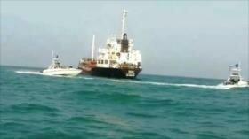 Irán publica vídeo de buque detenido por contrabando de combustible