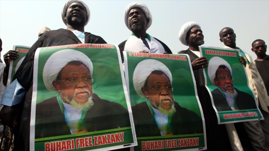 Una manifestación contra la detención del líder musulmán nigeriano, el sheij Ibrahim al-Zakzaky, en Abuja, 22 de enero de 2019. (Foto: AFP)