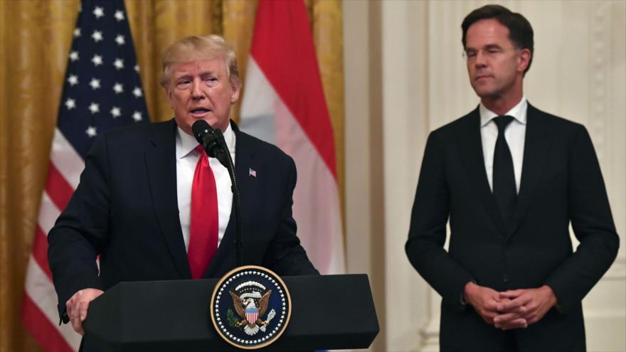 El presidente de EE.UU., Donald Trump, ofrece un discurso en la Casa Blanca, 18 de julio de 2019. (Foto: AFP)