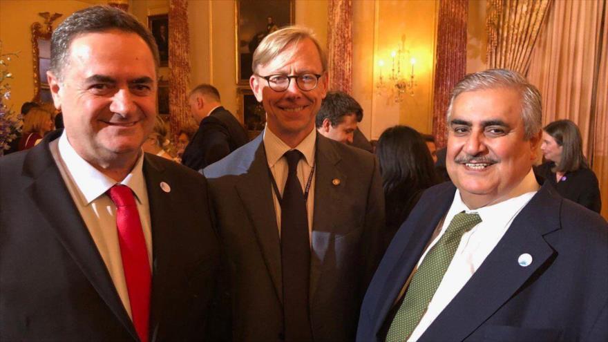 Los cancilleres de Baréin (dcha.) e Israel (izda) en Washington, la capital de EE.UU., 18 de julio de 2019.