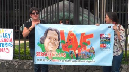 En Costa Rica piden justicia por asesinato de Sergio Rojas