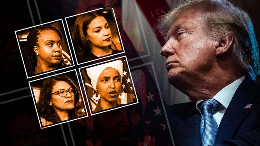 Guerra racista de Trump con el 'escuadrón' de legisladoras no blancas
