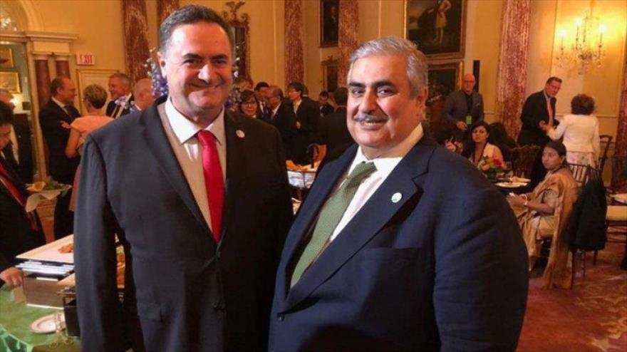 Los cancilleres de Baréin (dcha.) e Israel se reúnen en Washington, la capital de EE.UU., 18 de julio de 2019.