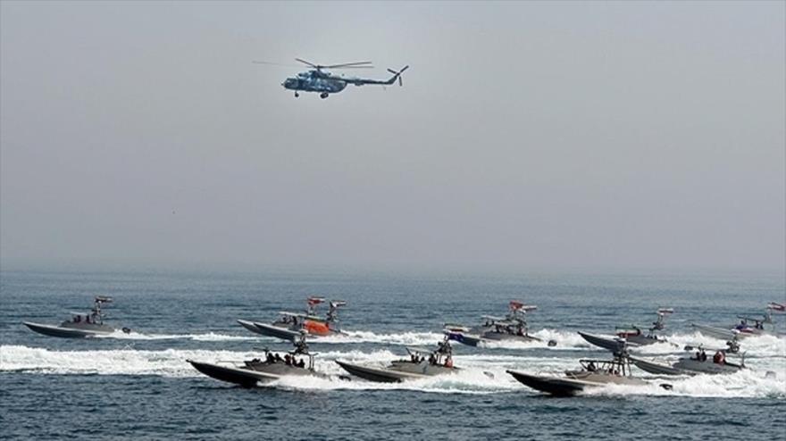 Unidad de la primera zona de la Marina del CGRI de Irán.