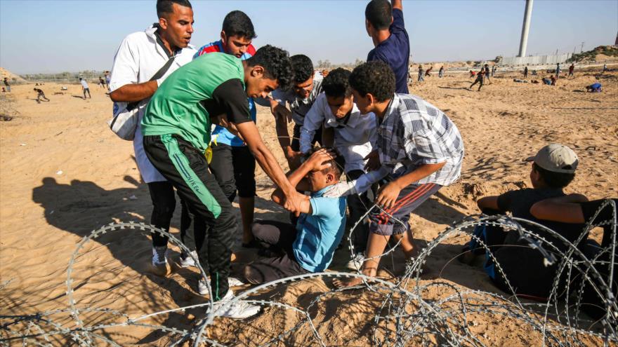 Represión israelí en Gaza deja 97 heridos, la mitad por fuego real