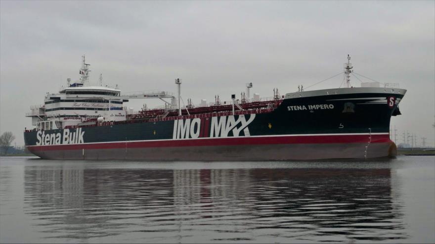 El buque petrolero Stena Impero, perteneciente al Reino Unido.