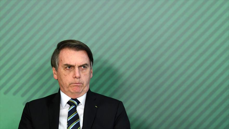 El presidente brasileño, Jair Bolsonaro, en un acto, 9 de abril de 2019. (Foto: AFP)