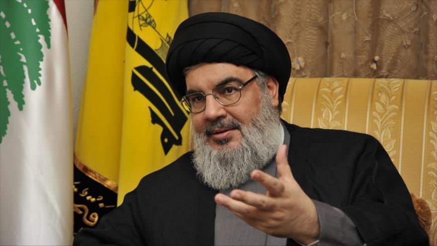 El secretario general del Movimiento de Resistencia Islámica de El Líbano (Hezbolá), Seyed Hasan Nasralá.